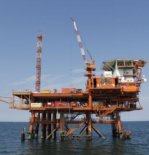 119676485 - offshore oil and gas platform on the ocean